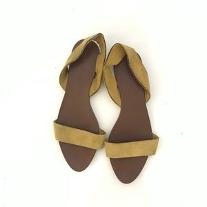 Zara Basic Collection Yellow Suede Sandals